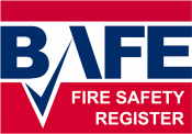 BAFE Fire Safety Register logo and URL link